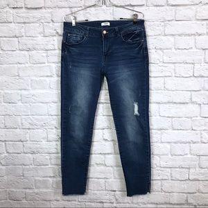 Kensie Hi Rise Distressed Skinny Ankle Jeans 10/30